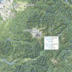 map with mt rainier